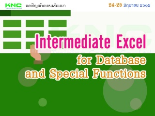Intermediate Excel for Database and Special Functi...